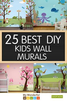 43 Super ideas for wall painting kids room gender neutral Kids Wall Murals, Murals For Kids, Painting For Kids, Diy Painting, Kids Room Paint, Nursery Wall Art, Safari Nursery, Jungle Safari, Nursery Decor