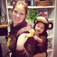 Pin for Later: 42 Adorable Halloween Costumes For Baby-Wearing Parents Monkey