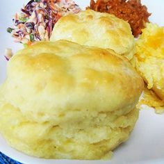 Mile High Biscuits | easy to make and delicious, even on the first try!  God those look great!Ruth's Diners Mile High Biscuits3 c. flour (I have used 1/2 white flour and 1/2 wheat and they turn our great!)1 1/2 t. salt1 T. sugar1 1/2 t. baking powder1 stick butter3/4 c. buttermilk (I have made these with buttermilk as well as the 'homemade' buttermilk version of 3/4 c. m.
