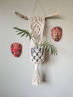 Check out this item in my Etsy shop https://www.etsy.com/ca/listing/577322119/macrame-plant-hanger-with-natural