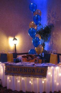 High School Reunion Table Decorations | Visit partypeoplecc.blogspot.com