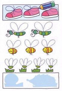 bug trace line worksheet | Crafts and Worksheets for Preschool,Toddler and Kindergarten