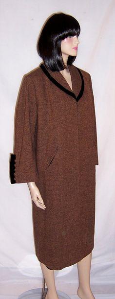 Grace Da Pozzo Original-1940's Brown & Black Tweed Coat $395