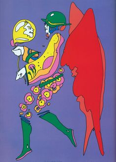Peter Max, Tip Toe Floating, 1972, serigraph; courtesy The Art of Peter