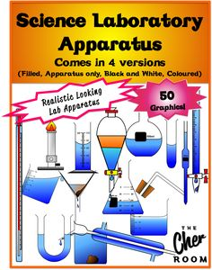 50 Science Laboratory Graphics in 4 different versions! Check it out at  https://www.teacherspayteachers.com/Store/The-Cher-Room