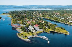 The Bygdøy peninsula, home of the Viking Ship Museum and Thor Heyerdal's KonTiki Museum, Oslo, Norway