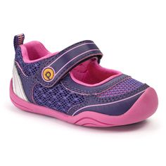 GG2262: Grip 'n' Go™ Racer Purple - Machine washable, Velcro closure, G2 Technology™, a rounded sole to support unstable steps, and designed with mesh to maintain a lightweight, soft, and flexible shoe.