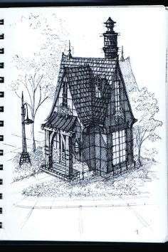 Edward Goreys Eerie House Illustration For John Bellairs