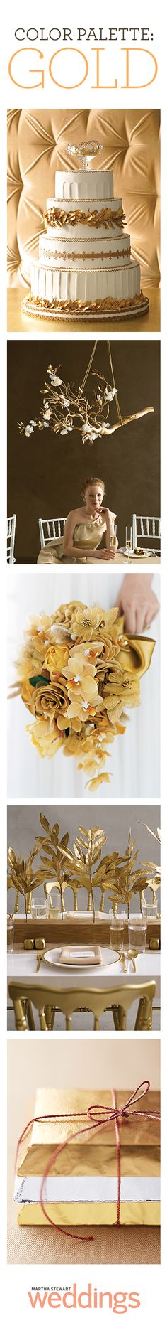 A little golden inspiration to make your wedding day really shine