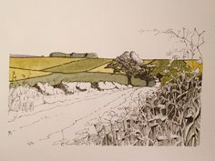 A farm track near Rudston in the Yorkshire Wolds-this is version number three of a favourite view.