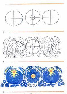 Russian Folk Art, Ukrainian Art, Tole Painting, Fabric Painting, Painting Tips, Polish Folk Art, Folk Art Flowers, Indian Paintings, Art Paintings