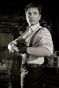 "John Barrowman. ""Fresh off the wrist of a handsome Time Agent."""