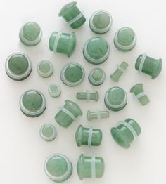 """Organic+Jade+Aventurine+Stone.    TOP+QUALITY+100%+ORGANIC+NATURAL+STONES.+HAND+POLISHED.    Sizes+available-+8G,+6G,+4G,+2G,+0G,+00G,+1/2"""".    EACH+PLUG+IS+SINGLE+FLARED+FOR+ADDED+COMFORT+AND+HAS+A+CLEAR+""""O""""+RING+ON+IT.    Purchase+price+is+for+one+pair."""