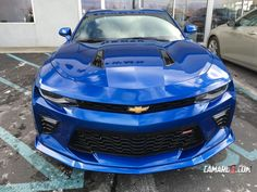These seem to be the best real-world photos of the Ground Effects Kit to date, with a 2016 Camaro SS in Hyper Blue being the base here