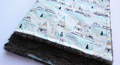 Indian Summer Blanket Woodland Pine Blanket by mylittlemookie