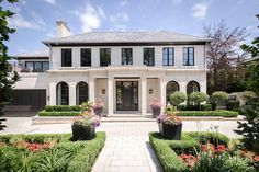 House of the week: 44 Burton Road Toronto Apartment, French Villa, Neoclassical Architecture, Grand Foyer, Georgian Homes, Real Estate Houses, Facade House, Walk In Shower, Beautiful Architecture