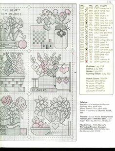 Schema punto croce Birthday Flowers 03