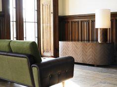 Оригинальная мебель Parq Life с фасадами, имитирующими паркет - стильный концепт от Deadgood, Великобритания