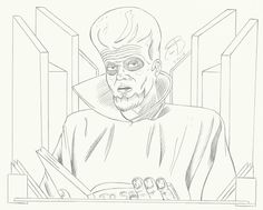 """#RCBrock Here! Have you ever asked yourself... whats Ryan's second favorite tv show? Of course not and why would you. Well the answer regardless is """"The Twilight Zone"""" heres a drawing i made from the episode """"To serve man"""" #twilightzone #fanart"""