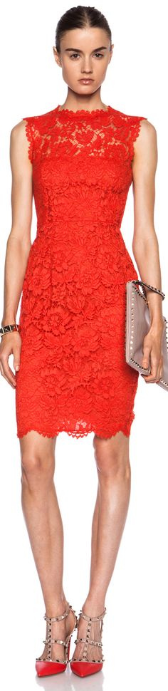 Dress red encaje 18 ideas for 2019 Dresses For Teens, Trendy Dresses, Short Dresses, Formal Dresses, Red Fashion, Colorful Fashion, Classy Outfits, Stylish Outfits, Valentino