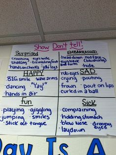Writing: Show, Don't Tell poster