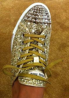 Miu Miu Glitter sneakers.