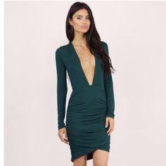 Flattering Plunging Bodycon Dress