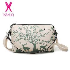 YANXI 2016 Factory Outlet Handbag Women Bag High Quality PU Shoulder Bag Messenger Bag Fashion Casual Animal Pattern Shell Bag