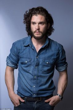 Hitting back:Kit's new look comes soon after the Brit actor claimed male actors suffer the same 'demeaning' sexism as female stars and said he is annoyed by constant questions about his looks