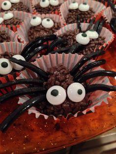 Brigadeiro spiders :) Brazilian chocolate fudge balls with licorice legs and eyes!