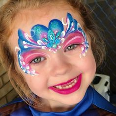 Mask Painting, Body Painting, Princess Face Painting, Frozen Face, Heart Crown, Candyland, Face Skin, Painting Inspiration, Cute Kids