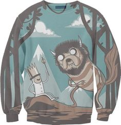 Adventure Time x Where The Wild Things Are sweater! Want it!