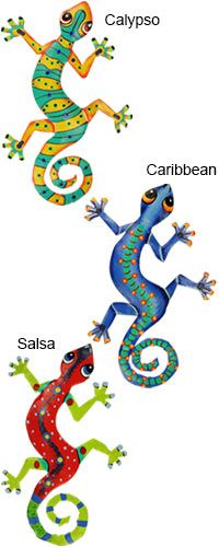 Haitian Folk Art Gecko Wall Art at The Hunger Site