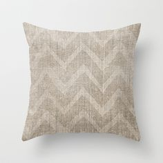Chevron burlap (Hessian series 1 of 3) Throw Pillow by John Medbury (LAZY J Studios) - $20.00
