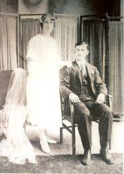 Jose Vittor and Erna Luigi #wedding #photo, 1923