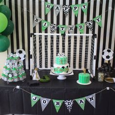 Little Monster Centerpieces - Funny Birthday Decorations. Soccer Birthday Parties, Sports Theme Birthday, Football Birthday, Soccer Party, Monster Centerpieces, Party Centerpieces, Birthday Party Decorations, Birthday Desserts, Craft Party