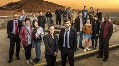 Created by Chris Chibnall. With David Tennant, Olivia Colman, Jodie Whittaker, Andrew Buchan. The murder of a young boy in a small coastal town brings a media frenzy, which threatens to tear the community apart. David Tennant, Please Like Me, Elizabeth Moss, Tv Series 2013, Series 3, Gillian Anderson, Plot Twist, Cast Of Broadchurch, New Movies