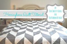 Herringbone Quilt Tutorial - The Ribbon Retreat Blog. One of these days I will actually get around to making a quilt like I want to...