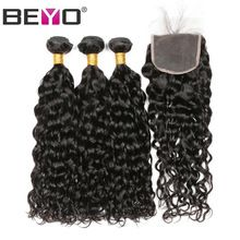 Water Wave Bundles With Closure Free Part Human Hair Bundles With Closure 4 Pcs Brazilian Hair Weave Bundles Non-Remy Beyo Hair     Wholesale Priced Wigs, Extensions, And Bundles!     FREE Shipping Worldwide     Buy one here---> http://humanhairemporium.com/products/water-wave-bundles-with-closure-free-part-human-hair-bundles-with-closure-4-pcs-brazilian-hair-weave-bundles-non-remy-beyo-hair/  #wigs_for_black_women