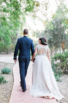 Newlywed bliss: http://www.stylemepretty.com/arizona-weddings/paradise-valley/2015/07/07/gilded-in-the-southwest-desert-of-scottsdale-arizona/ | Photography: Pinkerton - http://www.pinkertonphoto.com/