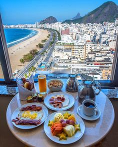 Breakfast at Copacabana Beach : CityPorn Breakfast Around The World, Breakfast In Bed, Places To Travel, Places To Go, Copacabana Beach, Breakfast Photography, Travel Aesthetic, Beach Pictures, Luxury Life