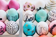 DIY Inspirational Easter Eggs / Dyed / Sharpie / walk in love.