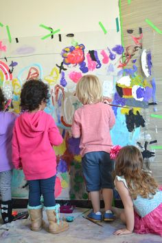 Look at this amazing mural made by 3 and 4 year olds!
