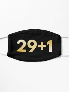 30th birthday mask idea for men and women, funny and simple. Cool quote for him or her as a cute squad gift - friend, boyfriend, girlfriend, sister, brother... Gold typography for a happy birthday party.