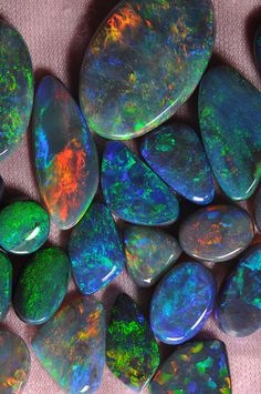 Lightning Ridge solid opals, Gorgeous!