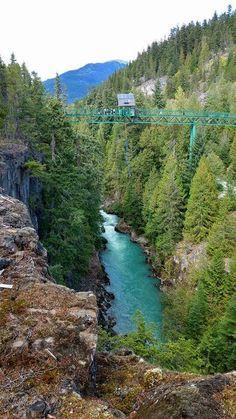 Whistler bungee bridge BC Canada