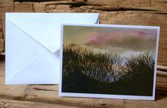 Cards Blank Dusk Landscape Sunset Set of 6 by annarobertsart