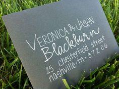 Calligraphy Envelopes Wedding Invitations Custom. $1.50, via Etsy.