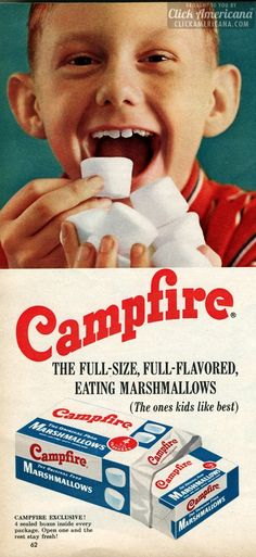 Campfire: Full-size, full-flavored eating marshmallows (1959)