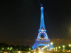 The Eiffel Tower at night. The perfect place for...